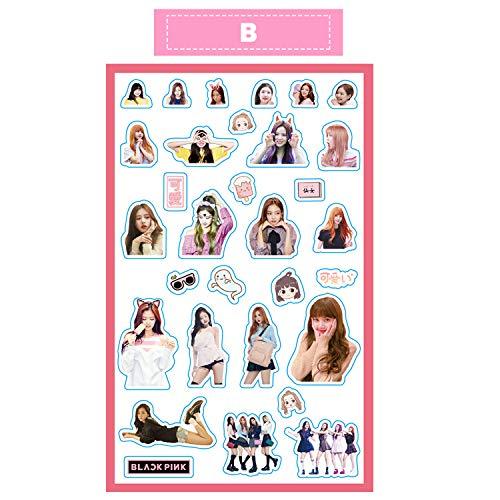 Blackpink Lisa Rose Jisoo Jennie Kpop Cute Stickers for Laptop Car Decoration Cellphone Decal (Blackpink, 1pcs)