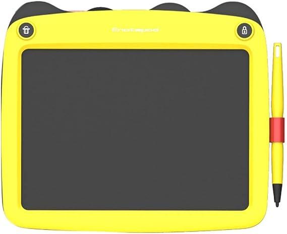 LCDライティングタブレット、9インチ、ポータブル、キッズアダルト、ドローイング&ライティングボード(黄色)