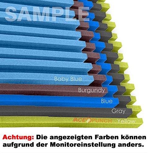 acepunch 16 unidades Metro rayas Espuma acústica aislamiento con libre lengüetas de montaje 50 x 50 x 5 cm ap1041, negro y amarillo, ...