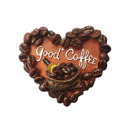 3D Seattle USA Refrigerator Magnet Coffee Heart-shaped Style Tourist Souvenirs Stickers,Home & Kitchen Decoration USA Fridge Magnet
