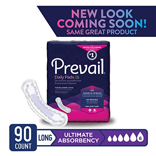Prevail Pull (Prevail Ultimate Absorbency Bladder Control Pads Long 90 Count Rapid Absorption Discreet Comfort Fit Overnight Incontinence Pads for Women)