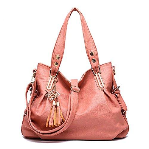 SHUhua , Damen Rucksackhandtasche rosa rose