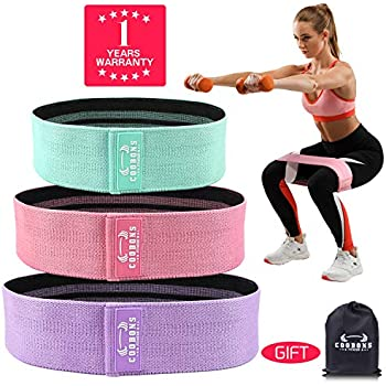 7c164488b Amazon.com   Hip Resistance Bands for Legs and Butt Exercise Workout ...