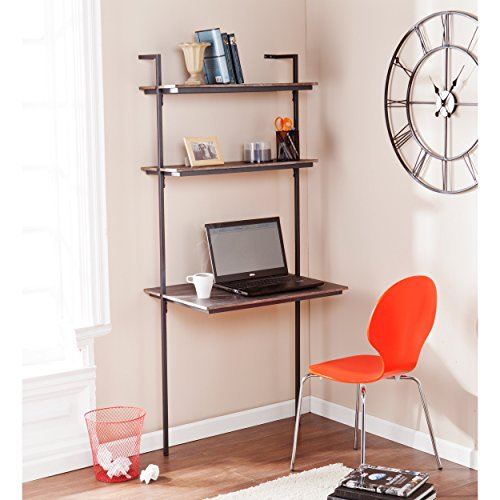 Wall mount desk with shelving