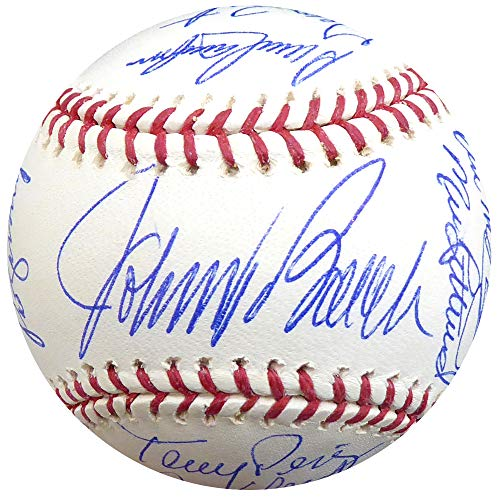1975-76 Cincinnati Reds World Series Champs Autographed Official MLB Baseball With 20 Total Signatures Including Rose, Bench & Morgan PSA/DNA - Baseball Autographed Series Official World