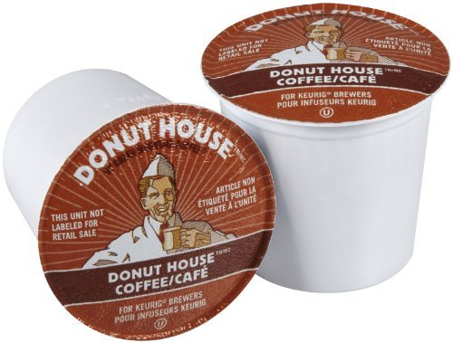 Donut House Collection Donut House Coffee, 96-count K-cups for Keurig Brewers (4 boxes of 24 K-Cups Each)