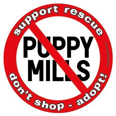 (No Puppy Mills circle magnet)
