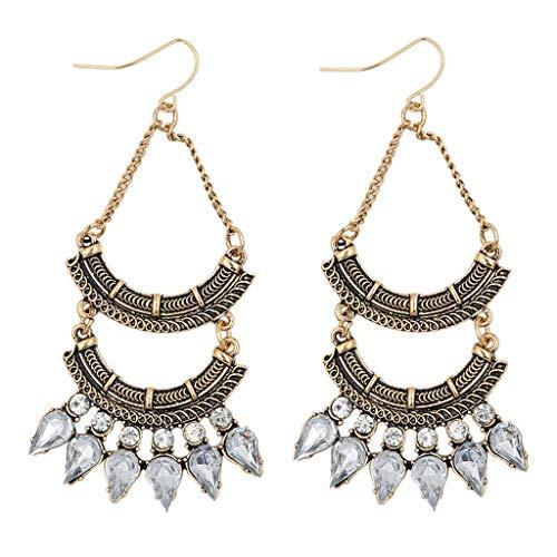 Fashion Long Pendant Earrings Double-Layer Rhinestone Geometric Earrings Necklace Jewelry Crafting Key Chain Bracelet Pendants Accessories Best