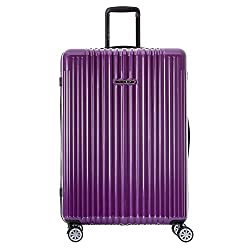 "Germany NaSaDen 26"" Luggage Marquette Purple-Hardside Travel Checked Luggage-Super Lightweight, 360° Spinner Wheels, TSA Luggage Lock-Schloss Sanssouci Zipper Luggage for Women/Men/Business/Trip"