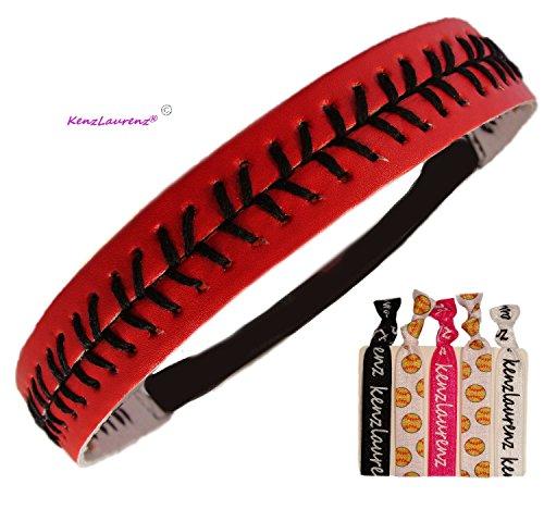 Softball Headbands -titching Seam Fastpitch Stretch Elastic Sport and Fashion Headband by Kenz Laurenz