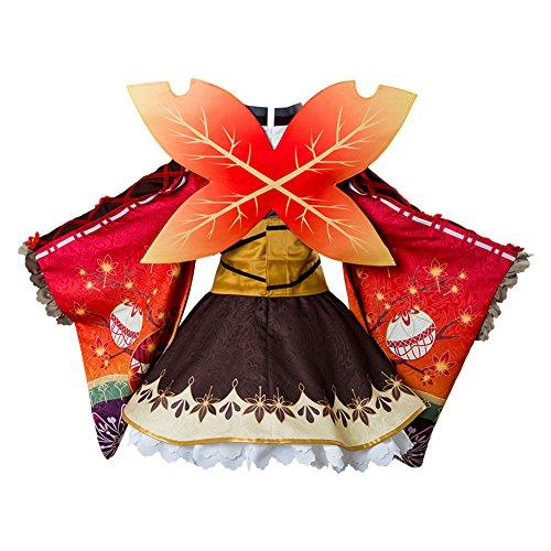 Costhat Love Live!Aqours Kunikida Hanamaru Autumn Viewing Cosplay Costume Kimono Dress by Costhat (Image #2)