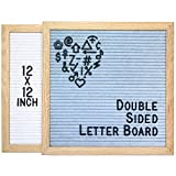 Double Sided Letter Board - 802 Characters 12x12 Sky Blue + White Felt
