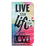 Nexus 6P Case,JanCalm [Kickstand] Pattern Premium PU Leather Wallet [Card/Cash Slots] Flip Cover for Huawei Google Nexus 6P Devices (2015) *Including-ONE Crystal Pen (Live The Life You Love)