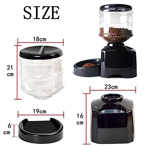 Haoren 5.5L Automatic Pet Feeder, Recordable Dog Cat Dry Food Container with LCD Screen by Haoren (Image #4)
