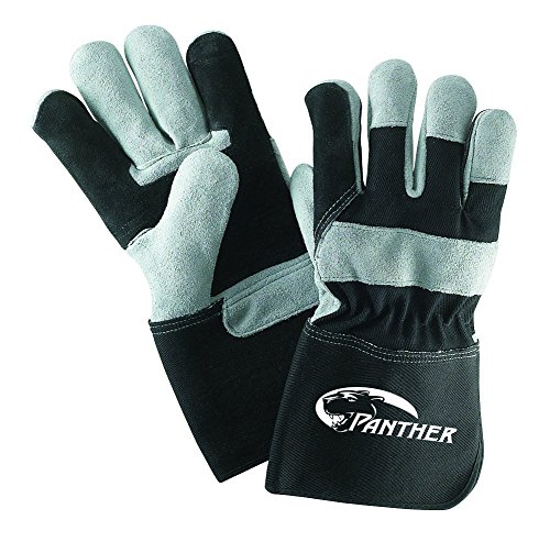Galeton 2434-L Panther Double Palm Select Leather Gloves, Gauntlet Cuff (4.5