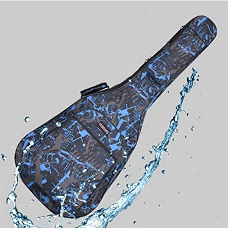 Coffee High Quality 40 41 Inch Acoustic Guitar Waterproof Thicken Padded Bag Advanced Guitar Case with Double Strap and Outer Pockets