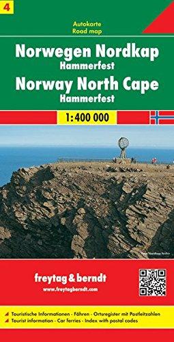 Noruega norte, Cabo Norte, Hammerfest mapa de carreteras. Escala 1:400.000. Freytag & Berndt. (Auto karte) (Alemán) Mapa – Mapa doblado, 7 jul 2014 VV.AA. 3707904652 Gazetteers & Maps) Carte e atlanti geografici