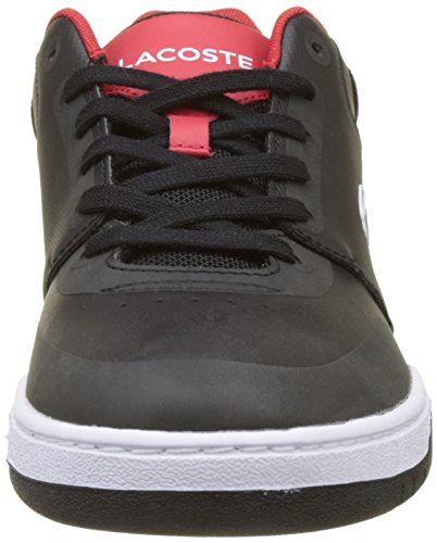 Lacoste Indiana Evo, Sneaker Uomo Nero (Blk/Red)