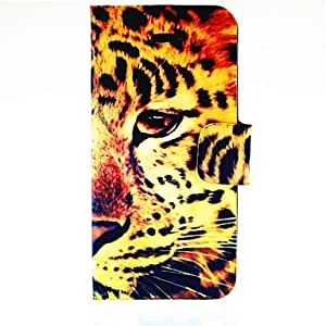 GJY Half Face Tiger Pattern Full Body Case for iPhone 4/4S