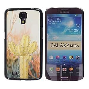 Be Good Phone Accessory // Dura Cáscara cubierta Protectora Caso Carcasa Funda de Protección para Samsung Galaxy Mega 6.3 I9200 SGH-i527 // Cactus Desert Sun Thorns Plants Nature