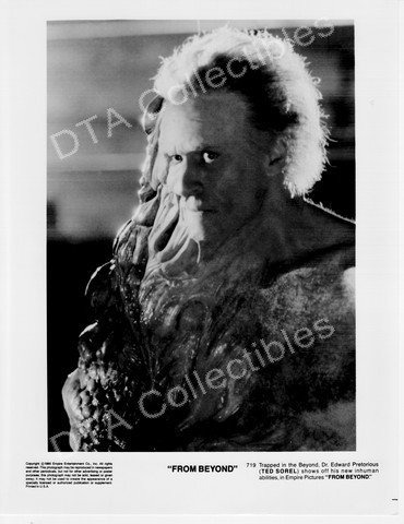 Silent picture PHOTO: FROM BEYOND-1986-TED SOREL-BLACK & WHITE-8x10 STILL FN