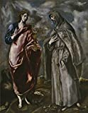 Oil Painting 'El Greco (Workshop) San Juan Evangelista Y San Francisco De Asis After 1600' 30 x 39 inch / 76 x 98 cm , on High Definition HD canvas prints, Game Room, Home Office And Living Ro decor