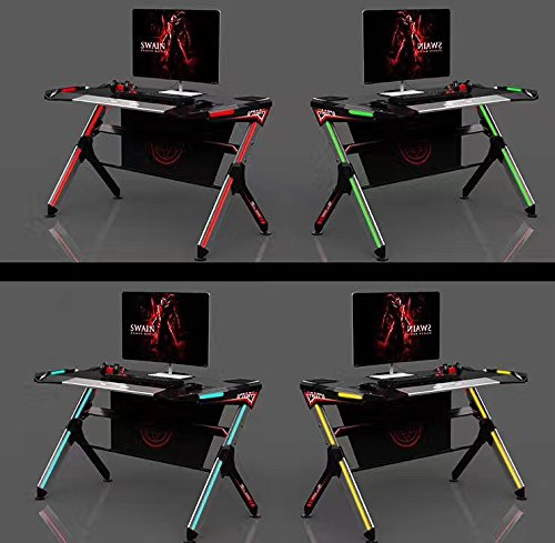 515wTHMn1nL   Kinsal Computer Desk Student Table Design With RGB Light  Ambience Lighting, Racing Table