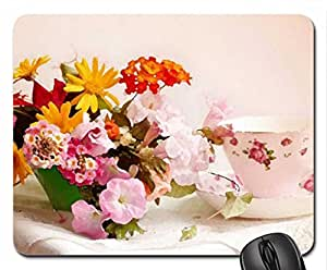 SPRING TEA Mouse Pad, Mousepad (Flowers Mouse Pad, Watercolor style)