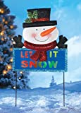 LED ''Let it Snow'' Snowman Garden Stake, Snowman