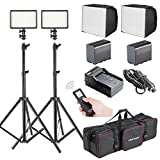 Bestlight® 2 x LED308C Ultra High Power Dimmable Built-in LCD Panel Video Light Kit for Canon,Nikon,Pentax,Panasonic,Sony,Samsung,Olympus and Other Digital DSLR Cameras or Camcorders