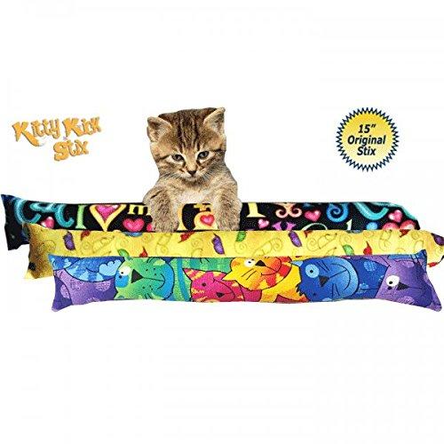"""15"""" Kitty Kick Stix - Set of 3 Cat Kickers"""