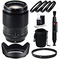 Fujifilm XF 90mm f/2 R LM WR Lens + 52mm +1 +2 +4 +10 Close-Up Macro Filter Set with Pouch + 52mm Multicoated UV Filter Bundle 5