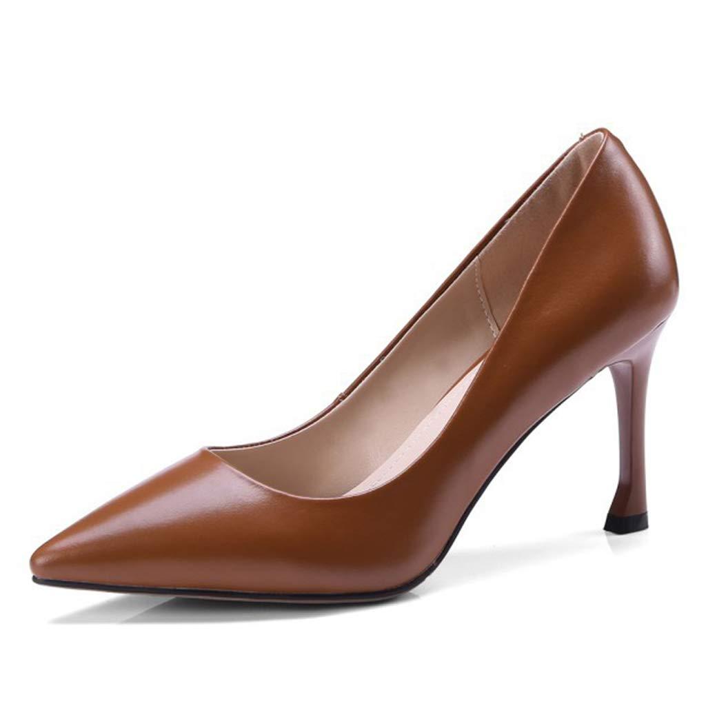 LZW Verschleißfest Verschleißfest Verschleißfest Rutschfest Spitz Einzelne Schuhe Feine Ferse Niedrige Hilfe Flacher Mund High Heels 074388