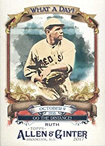 2017 Allen and Ginter What a Day #WAD-88 Babe Ruth Boston Red Sox Baseball Card