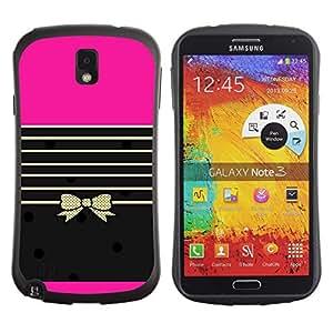 Fuerte Suave TPU GEL Caso Carcasa de Protección Funda para Samsung Note 3 N9000 N9002 N9005 / Business Style Stiletto Lips Bling Fashion Purple