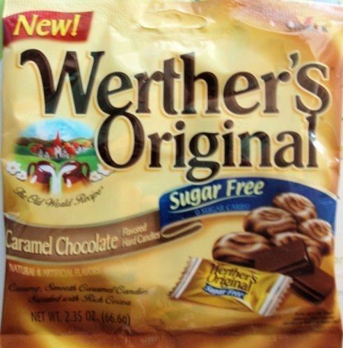 Werther's Original Caramel Chocolate Sugar Free Hard Candies 2.35 oz by Werther's