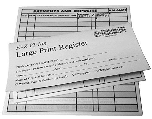 Large Print Checkbook Register Low Vision 2019 20 21 Calendar - Set of 6 (Low Vision Large Print Calendar)