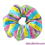 Easter Marshmallow Candy Scrunchie Hair Tie, Easter Colorful Candy Scrunchy Hair Tie Accessory, Easter Scrunchies