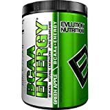 Evlution Nutrition BCAA Energy - High Performance, Energizing Amino Acid Supplement for Muscle Building, Recovery, and Endurance (30 Servings) Green Apple