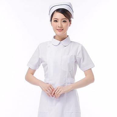 Xuanku La Enfermera Llevaba Un Vestido De Cuello Redondo, Farmacia, Una Belleza, Un Dentista Traje, Azul, Rosa, Blanco, Y Un Médico De Manga Corta: ...