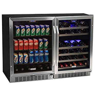EdgeStar CWBV14846 48 Inch Wide 46 Bottle 148 Can Side-by-Side Wine and Beverage