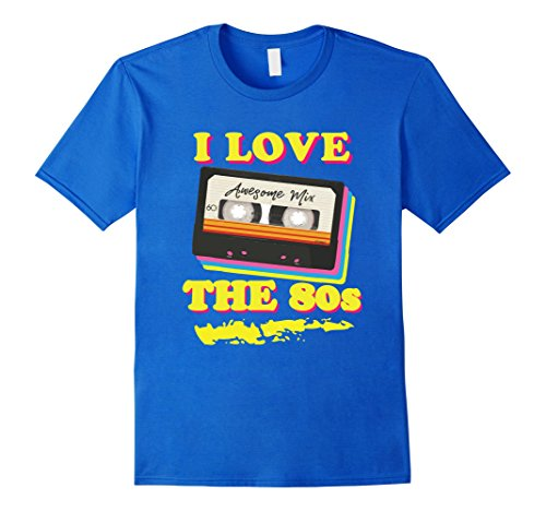 Cassette Tape Halloween Costume (Mens Funny 1980s Mix Tape Costume Halloween Party Theme T-shirt XL Royal Blue)