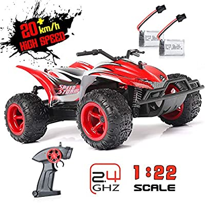 RC Car 1:22 Scale Radio Control High Speed Racing Car Monster Truck Off Road Dune Buggy Wireless Receiver Remote Control Hobby Toys for Kids & Adults: Toys & Games