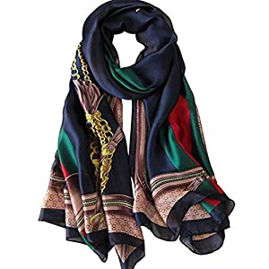 Jazzco Womens Mulberry Silk Scarves Long Satin Lightweight Scarf For Women