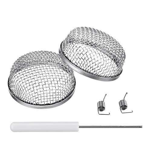 Miady RV Furnace Vent Screen - 2 Pack Flying Insect Bug Cover Camper Heater Exhaust Vents - 2.8
