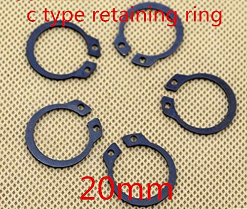 Ochoos 100pcs//lot m20 20mm C Type snap Ring,C Type retaining Clip Ring Washer Alloy Steel