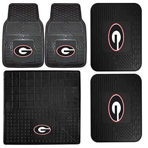- FANMATS NCAA University of Georgia Bulldogs Set of 2 Vinyl Utility Mat with Vinyl Cargo Mat and Vinyl Heavy Duty Car Mat