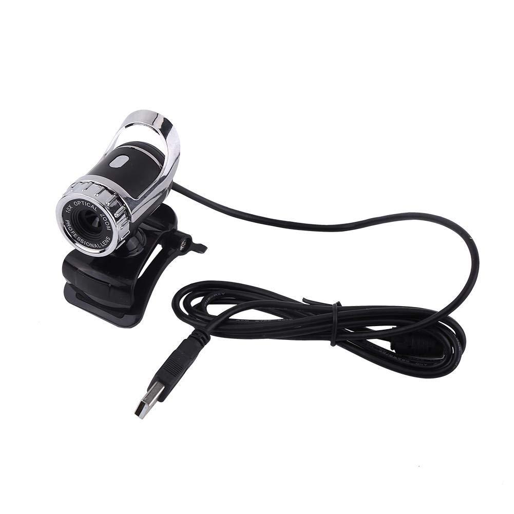Webcam Camera, ASHSTA Webcam da 360 Gradi Regolabile con Webcam per l'assorbimento del Suono Incorporata per PC, Compatibile con Windows XP / Win2003 / Win7 / Win8 / Vista 32b(argento) Richer-R