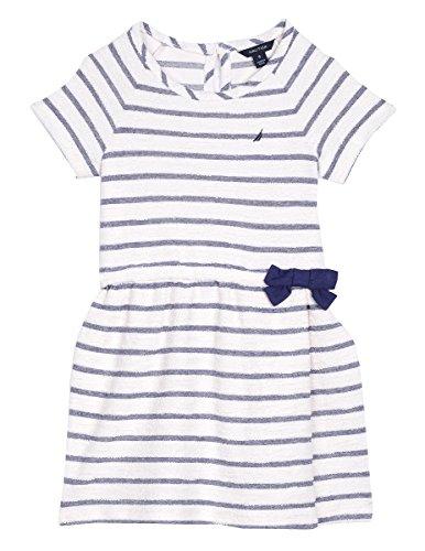 (Nautica Toddler Girls' Stripe Terry Dress, Cream, 4T)