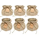 Syndicate Sales (6 Pack Vintage Home Decor Glass Vase Set with Linen Jackets for Flowers Candy Keys
